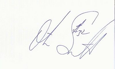 Autographed Index Card - Otis Smith Denver Nuggets Warriors Orlando Magic Guard