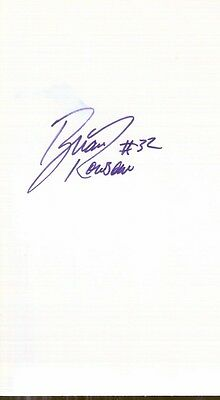 Autographed Index Card - Brian Rowsom Indiana Pacers Charlotte Hornets Forward