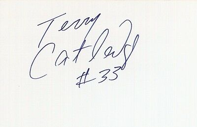 Autographed Index Card - Terry Catledge Philadelphia 76ers Bullets Magic Forward