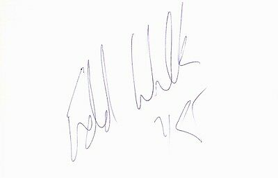 Autographed Index Card - Eddie Lee Wilkins NY Knicks Power Forward/Center