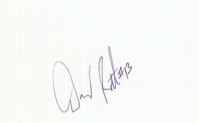 Autographed Index Card - Doug Roth Washington Bullets Center