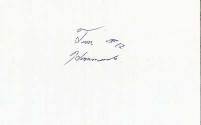 Autographed Index Card - Tom Hammonds Washington Bullets Nuggets Timberwolves