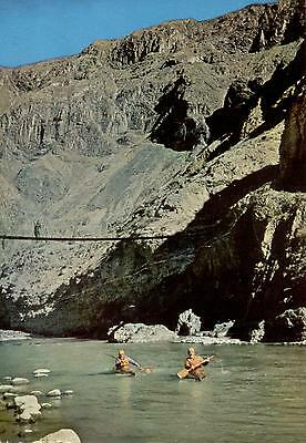 Peru  -  Arequipa - Hanging bridge over the Colca river