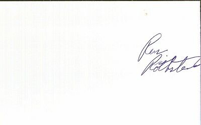 Autographed Index Card - Ron Rothstein Miami Heat Detroit Pistons Head Coach