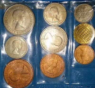 Proof set of British coins-Queen Elizabeth II, year of issue 1953, UNC.