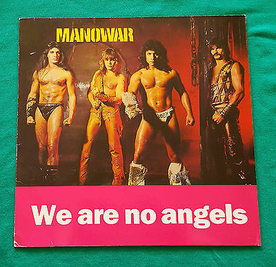 Manowar - We Are No Angels LP 1987 Rare Unofficial Release Wildsau Records