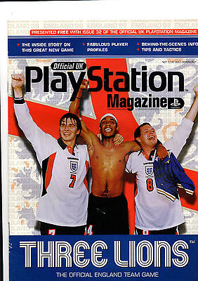 Official Uk Playstation Magazine Three Lions Issue *rare Issue*