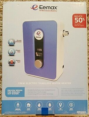New 240-Volt 13-kw Indoor Tankless Electric Instant Endless Hot Water Heater