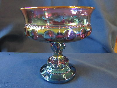 Vintage Carnival Glass...beautiful Candy Dish...mint Condition!!