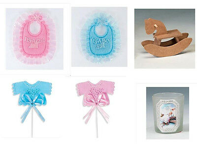NEW Baby Shower BAPTISM Party Favors CRAFTS decorations 1 Dozen 12 PIECES