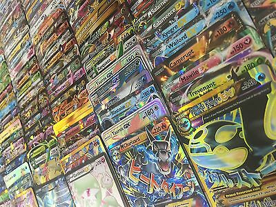 Pokemon TCG 100 Card Lot - COMM/UNCOMM/RARE/HOLO & 1 GX/EX/FULL ART/SECRET RARE