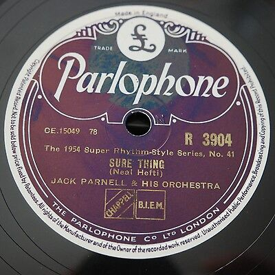 jazz & dance: Jack PARNELL & his Orchestra - Parlophone R 3904