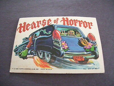 Weird Wheels Hearse Of Horror 1980 Topps Chewing Gum Trading Card