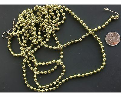 "Antique 88"" Lime Mercury Glass Miniature Bead Feather Tree Christmas Garland"