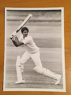 1980s indian test player batting for India a Ken Kelly Press Photograph vgc