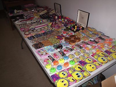 Large Job Lot Of Childrens Jewellery Hair Accessories Party Bag Toys Games (B)