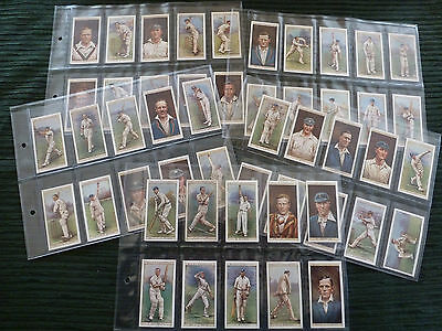 Vintage Wills's Cigarette Cards Cricketers 1928 full set 50/50 and sleeves