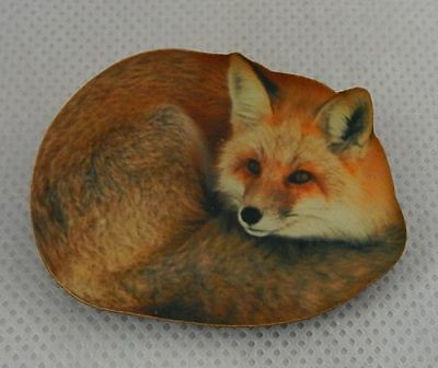 Fox Brooch or Scarf Pin Accessories, Jewelry Fashion Accessories Wood red brown