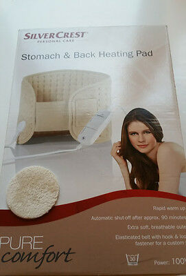 Silver Crest Personal Care Stomach Back Heating Pad New
