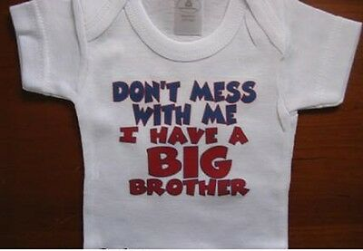 funny little brother baby shirt sibling infant boy clothes one piece bodysuit