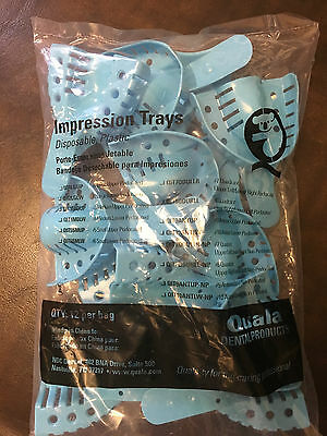 Quala QIT1LGUP Dental Impression Trays # 1 Large Upper Perforated 12pcs