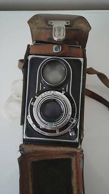 Vintage camera Flexaret RARE collectible camera leather case included