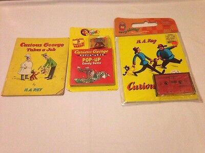 Lot of CURIOUS GEORGE- POP UP CANDY GAME NIB Curious George takes a Job and more