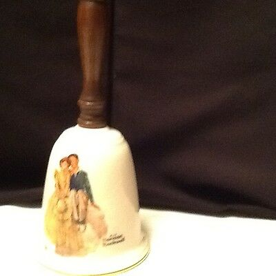 1984 Gorham Bell With Norman Rockwell Design