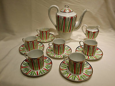 Art Deco Coffee Set, Hand Painted For C.1930