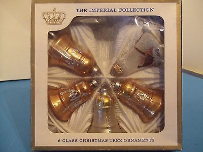 Vintage Sears Imperial Collection Bell Ornaments  Box Of 5