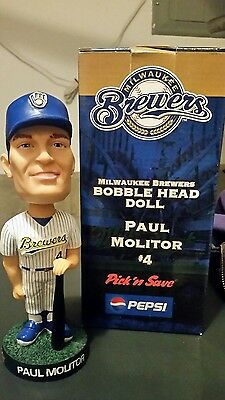 2003 Paul Molitor bobblehead Pinstripe Milwaukee Brewers