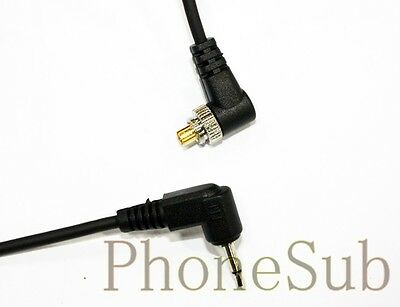 2.5mm to Male FLASH PC Sync Cable Cord with Screw Lock 1m