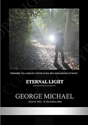 George Michael Tribute A4 Eternal Light + FAN QUOTE - 350GSM Print  - Charity