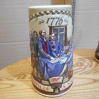 Miller High Life Birth of a Nation Ceramic Beer Stein 2nd in the Series