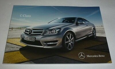 Mercedes-Benz C Class Coupe incl. C 63 AMG Brochure (2011)