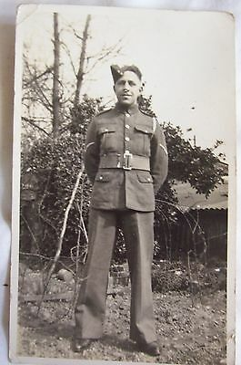 WW2 RP Photograph Postcard Of A Corporal Soldier