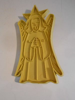 Vintage Stanley Home Products ANGEL  Yellow Plastic Cookie Cutter