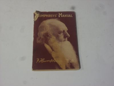 1929 Humpherys' Manual by F Humphreys MD  Care and Treatment of all Diseases