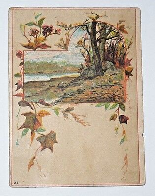Antique Vintage Victorian Trade Card Twin Brothers Yeast Fall Scene 24
