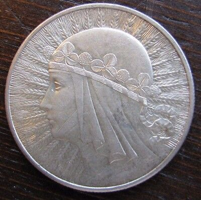 A second, #2 Silver 1932  10 Zlotech coin;  nice