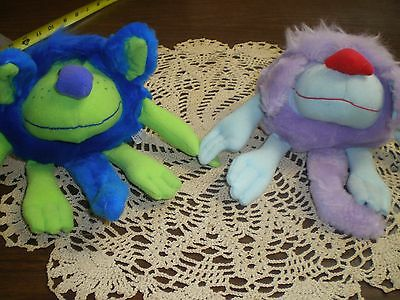 Vintage Reversible Stuffed Toys Lot of 2 Halloweirdies Reverziples New with tags