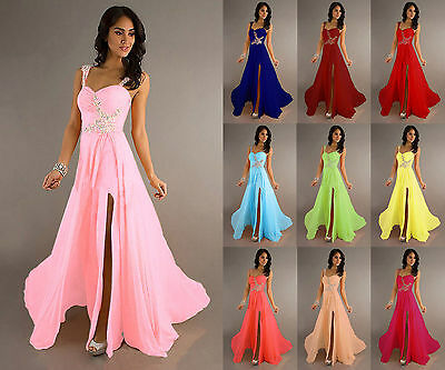Long Chiffon Wedding Formal Party Ball Gown Prom Evening Bridesmaid Dress 6-20