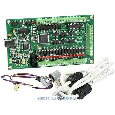 3 Axis CNC USB Card Mach3 200KHz Breakout Board Adapter For Stepper/Servo Driver