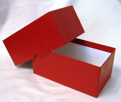 NEW 1 Red Cardboard Coin Box for Banknotes