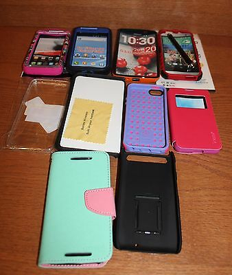 LOT of 10 Cell Phone Smartphone Cases Galaxy S, HTC, OneTouch, iPhone Misc. Vary