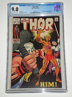 Thor 165 (1969) CGC Graded 9.0 VF/NM 1st Appearance of HIM (Warlock)