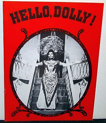Hello Dolly Souvenir Program Touring Cast Pearl Bailey Billy Daniels 1975