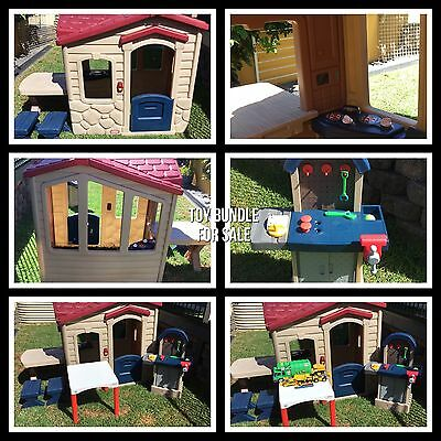 Little Tikes Picnic On The Patio Playhouse/Cubby House + Extra Toys