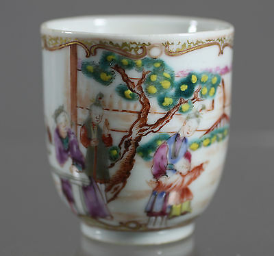 Antique Chinese Export Oriental genre scenes Tea cup 1pc 18c