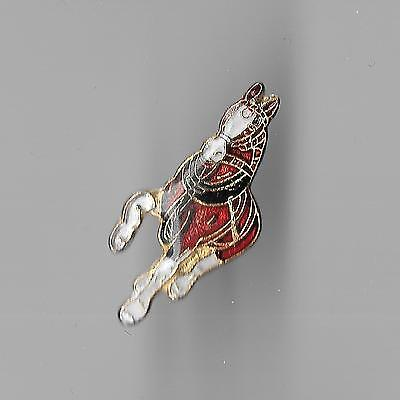 Vintage Clydesdale Harnessed Horse small b2 old enamel pin